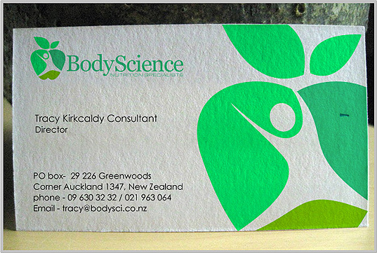 Unique business card design india by creative graphic designers bodyscience nutrition creative business card design reheart Images
