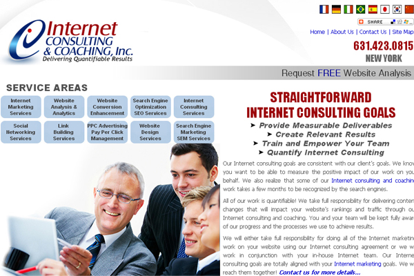 Iternet Consulting and Coaching- Innovative IT Website